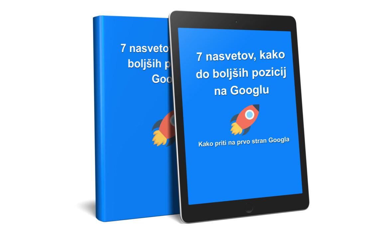 Brezplačen e priročnik: 7 nasvetov, kako do boljših pozicij na Googlu